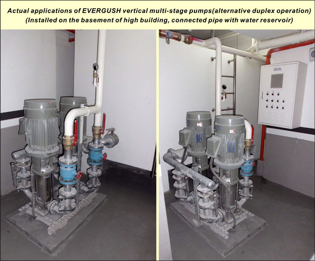 Applications of EVERGUSH Vertical multi-stage pump